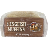 Kroger 7-Grain English Muffins Food Product Image