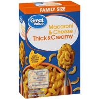 Great Value Thick & Creamy Macaroni & Cheese, 14.5 oz Food Product Image