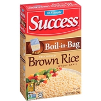 Success Precooked Brown Rice While Grain Boil-in-Bag - 4 CT Food Product Image