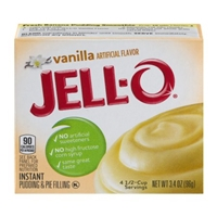 Jell-O Instant Pudding & Pie Filling Vanilla Food Product Image