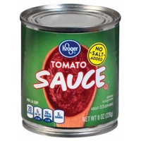 Kroger Tomato Sauce - No Salt Added Food Product Image
