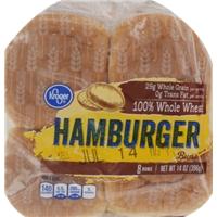 Kroger 100% Whole Wheat Hamburger Buns Food Product Image