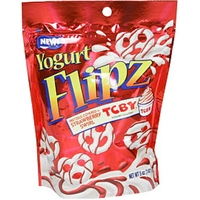 Yogurt Flipz Pretzels Covered In Strawberry Swirl Tcby Yogurt Coating Food Product Image
