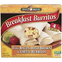 Don Miguel Bacon Egg & Cheese Burrito Food Product Image