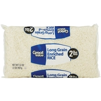 Great Value Rice Long Grain Enriched Food Product Image