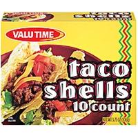 Valu Time Taco Shells 10 Ct Food Product Image