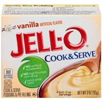 Jell-O Cook & Serve Pudding & Pie Filling Vanilla Food Product Image