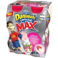 Dannon Danimals Swingin' Strawberry Banana Smoothie Food Product Image