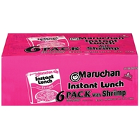 Maruchan Instant Lunch With Shrimp Ramen Noodles With Vegetables - 6 Ct Food Product Image