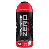 Powerade Zero Drops Fruit Punch Flavor Enhancer with Electrolytes 3 oz Food Product Image