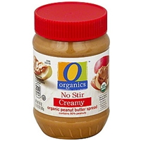 O Organics Peanut Butter Spread Organic, Creamy, No Stir Food Product Image