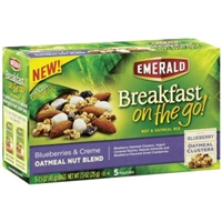 Emerald Nut & Oatmeal Mix Oatmeal Nut Blend, Blueberries & Creme Food Product Image