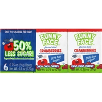 Paradise Meadow Funny Face Cherry Flavored Dried Cranberries Food Product Image