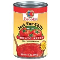Brooks Tomato Sauce With Chili Seasonings Mild Food Product Image