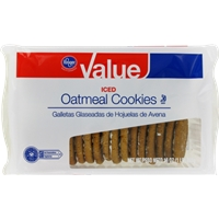 Kroger Value Iced Oatmeal Cookies Food Product Image