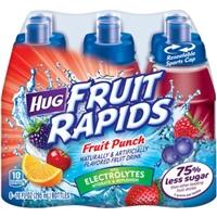 HUG Fruit Rapids Fruit Punch Fruit Drinks, 10 fl oz, 6 count Food Product Image