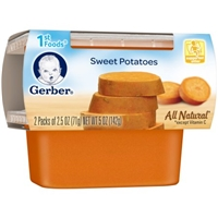 Gerber All Natural 1st Foods Sweet Potatoes - 2 PK Food Product Image
