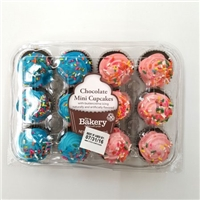 Everyday Favorites 12 Mini Chocolate Cupcakes Food Product Image