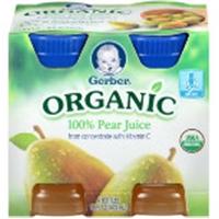 Gerber Organic 100% Pear Juice Food Product Image