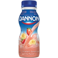Dannon Activia Strawberry Banana Yogurt Smoothie Food Product Image