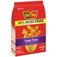 Ore-Ida Shredded Fried Potatoes Tater Tots Food Product Image