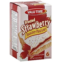 Valu Time Toaster Pastries Frosted Strawberry Food Product Image