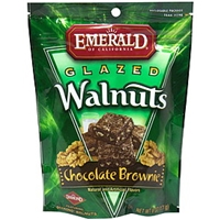 Emerald Of California Glazed Walnuts Chocolate Brownie Food Product Image