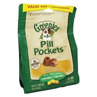 Greenies - Pill Pockets for Dogs Capsules Chicken Flavor - 15.8 oz. Food Product Image
